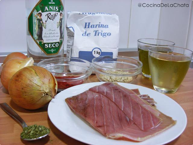 Ingredientes para la Coca amb Tonyina
