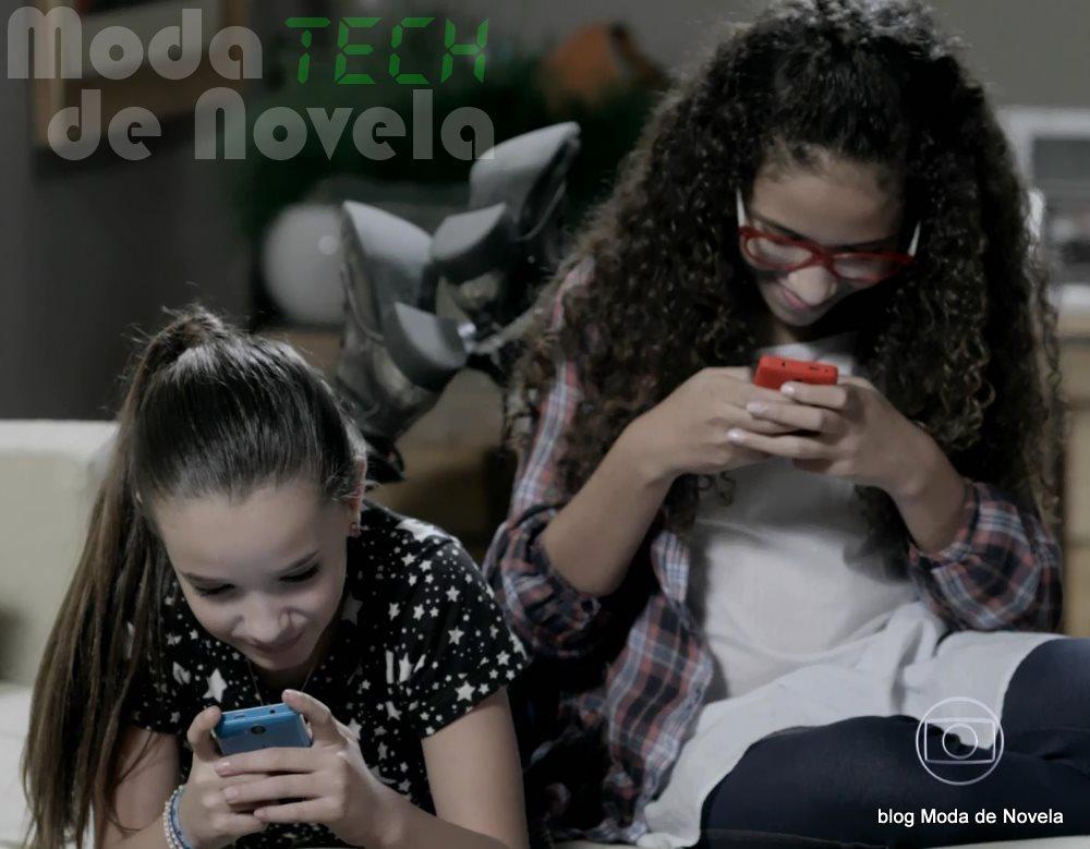 moda da novela Império - celular das meninas