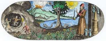 From Titlepage Of J B Van Helmont Opera Omnia Franckfurt 1682, Alchemical And Hermetic Emblems 1