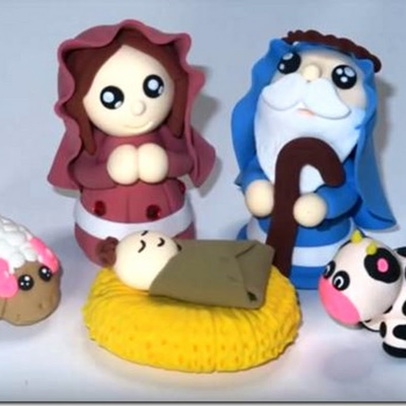 hacer San Jose, Virgen y niño Jesus en porcelana fría
