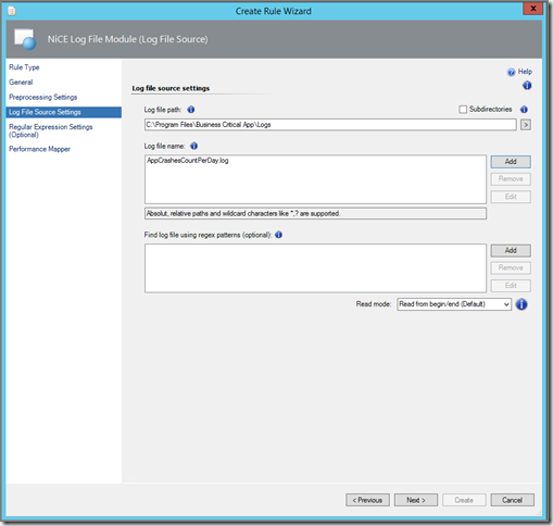 Thoughts on Azure, OMS & SCOM: NiCE Free Log File MP & Regex