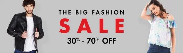 "Amazon ""The Big Fashion Sale"" - Get 30% to 70% Off On Clothings"