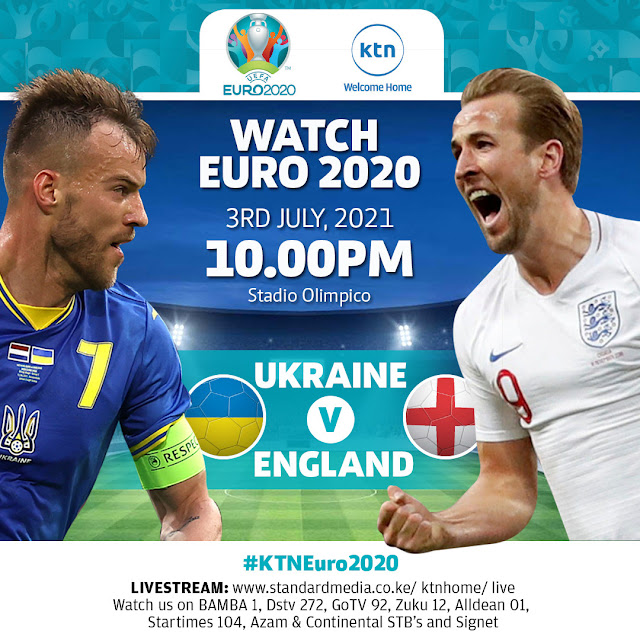 Ukraine VS England at KTN home Euro 2020 match of the day photo