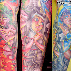 witch nun pin up arm - tattoo designs