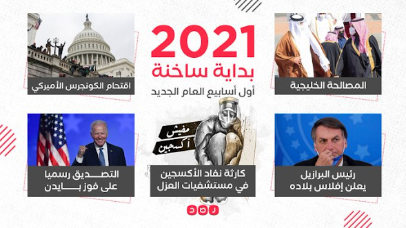 أهم الأحداث في الأسبوع الأول من 2021 حول العالم