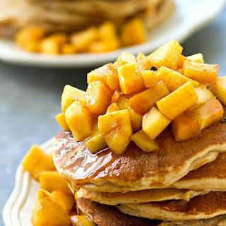 Apple Pie Greek Yogurt Protein Pancakes.