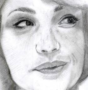 Gemma Arterton kéz rajz vázlat