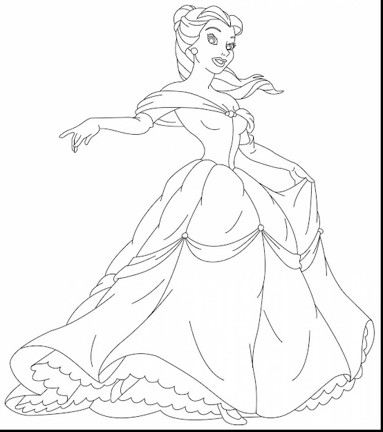 Astounding Disney Princess Belle Coloring Pages With Princess Belle  Coloring Pages And Disney Belle Coloring Pages