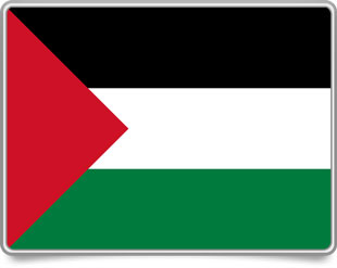 Palestinian framed flag icons with box shadow
