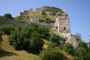 Hrad DevÌn castle, built in to the hillside