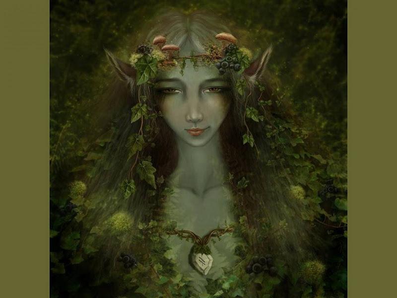 Green Elven Goddess, Green Witches
