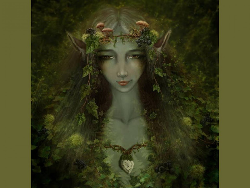 Green Elven Goddess, Green Witches