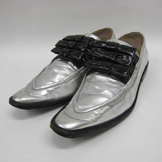 Comme des Garçons Silver Loafers