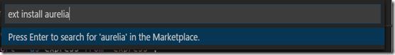 vscode-install-aurelia-plugin