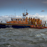 Poole's Tyne class and Swanage D-class lifeboats.  Photo credit: Andy Lyons, Swanage RNLI