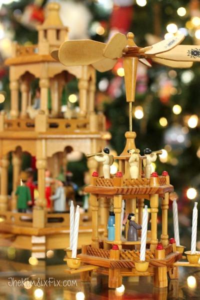 German candle pryamids at christmas time