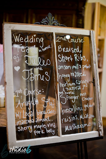 window pane wedding sign