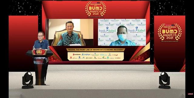 Bank Kalsel Raih Indonesia Best BUMD Awards 2021 atas Upaya PEN