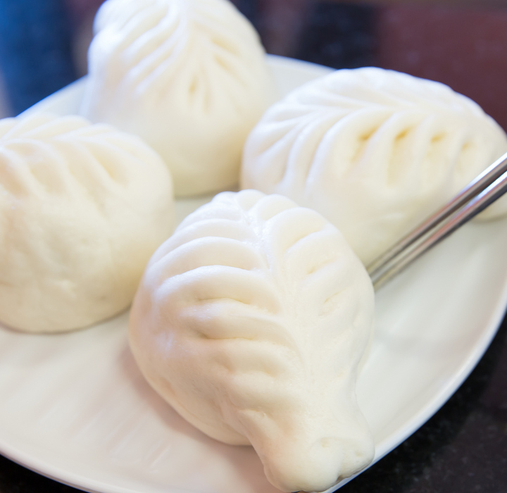 close-up photo of a Vegetable Steamed Dumpling