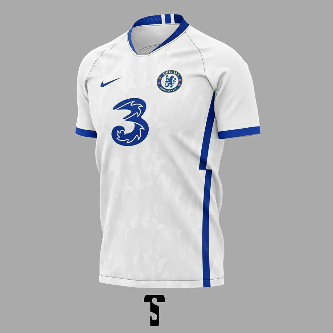 gambar foto desain konsep jersey chelsea away musim 2020-2021