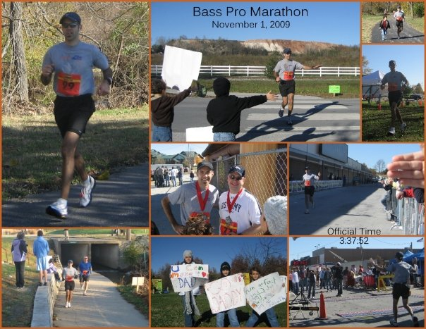 Dave finishes the Bass Pro Marathon in Springfield, MO in 3:37:52 - a PR. We love you, Honey! Great run!