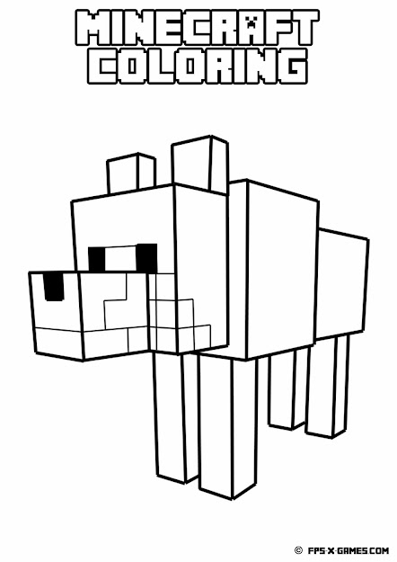 Minecraft Wolf Coloring Pages Printable Coloring Pages Sheets For Kids  Get The Latest Free Minecraft Wolf Coloring Pages Images Favorite Coloring  Pages