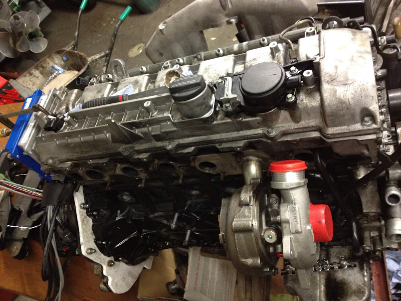 The build starts, 320 cdi with stand alone ecu, twin turbo