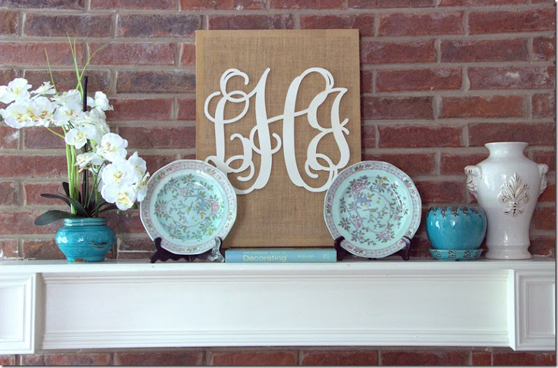 Spring Turquoise Mantel 1