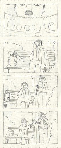 Storyboard of Charlie Chaplain Google Doodle Short Video