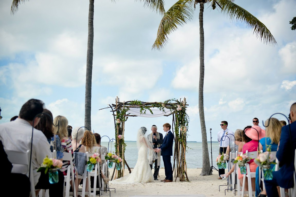 Vintage Beach Wedding Ceremony: Rustic & Vintage Beach Wedding In Florida, FL Keys Wedding