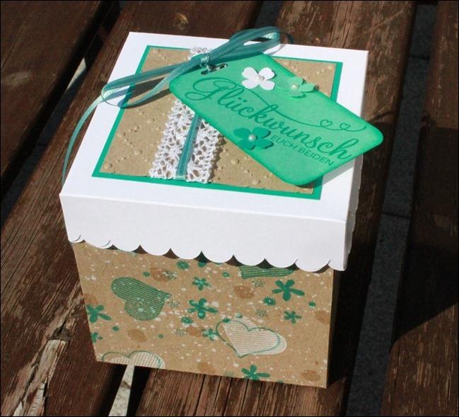 Vierfache Explosionbox Baby Geburt Einzug Umzug Geburtstag 00