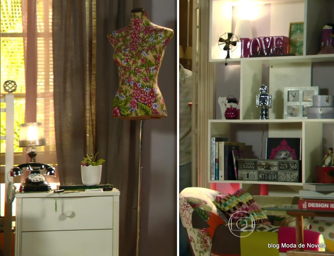 moda da novela Em Família, decoração do quarto da Gisele