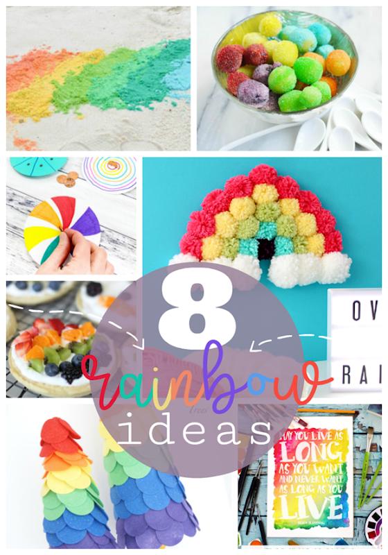 8 Rainbow Ideas at GingerSnapCrafts.com #rainbows #stpatricksday