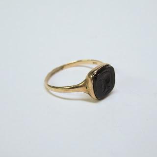 14K Gold Intaglio Ring