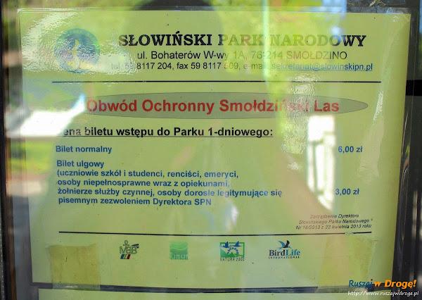 Płatne wejście do Słowińskiego Parku Narodowego