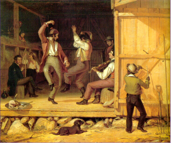 William Sidney Mount - Dance of the Haymakers, 1845