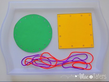 These shape lacing cards are a great fine motor activity for toddlers and preschoolers. While practicing their fine motor skills, children can also practice their shapes.