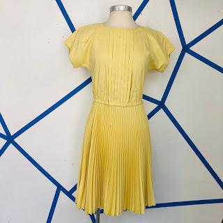Prada Pleated Yellow Dress