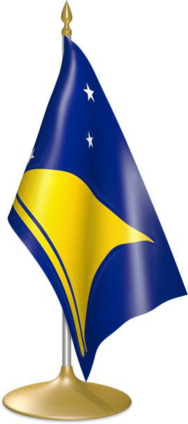 Tokelauan table flags - desk flags
