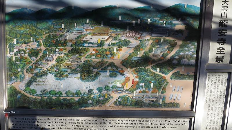 龍安寺 境内図