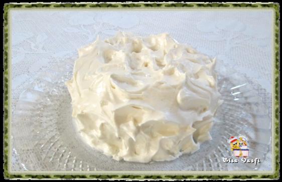 Glacê com creme de baunilha