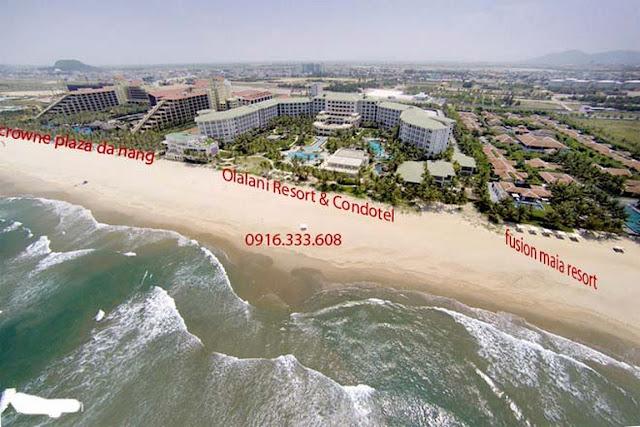 hình ảnh chụp từ trên cao nhìn xuống resort đà nẵng