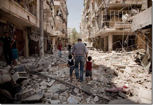 Aleppo destruction