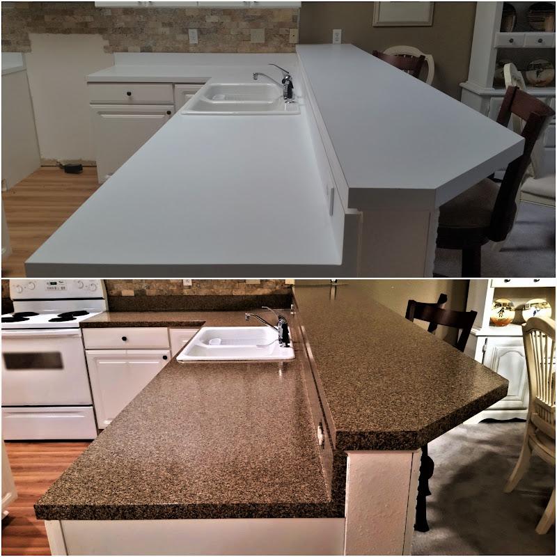 Countertop Refinishing, Kitchen Resurfacing Or Repairs On Damaged Surfaces Tiled Backsplashes