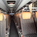 Het interieur van de Mercedes Toursimo van Van Fraassen Travelling bus 490