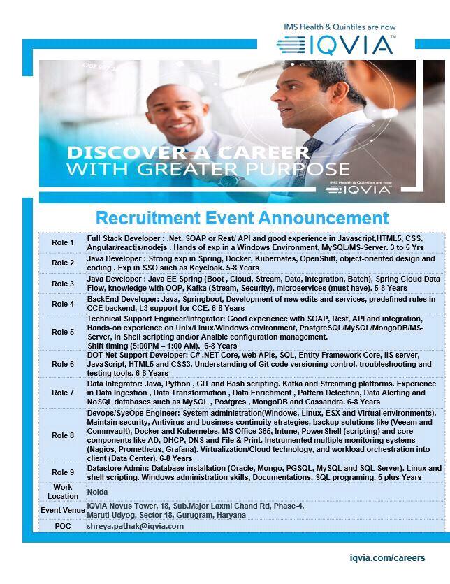 IQVIA - Recruitment Event announcement
