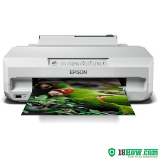 How to reset flashing lights for Epson XP-55 printer