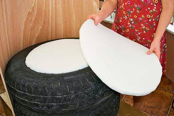 Como fazer puff de pneu