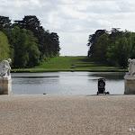 Château de Rambouillet : embarcadère, bassin et tapis vert