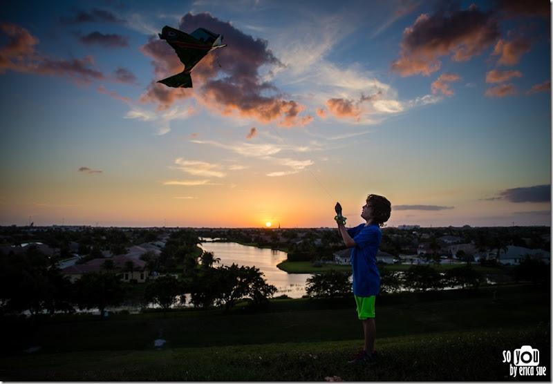 Kite Sunset silhouette-8635